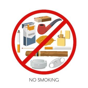 Aucun design de signe de fumer