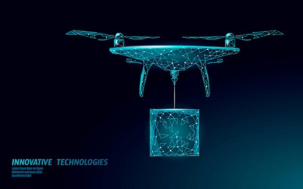 Aucun modèle de bannière de ville de drones. réglementation de la livraison par ciel de véhicules aériens sans pilote. la loi interdit la protection de la vie privée des avions. sécurité des informations de la zone privée. illustration polygonale.