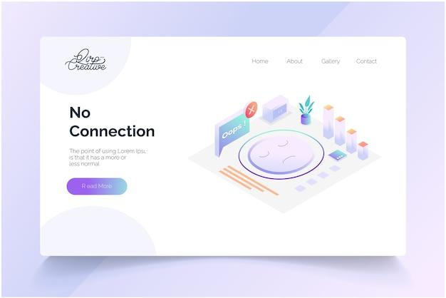 Aucun modèle de page de destination de concept de connexion
