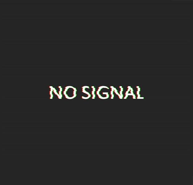 Aucun vecteur d'effet glitch de signal