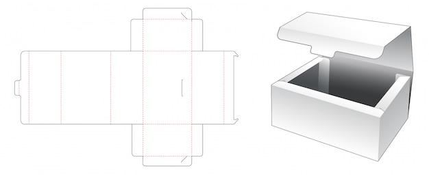 Aucune boîte à colle conception de modèle découpé