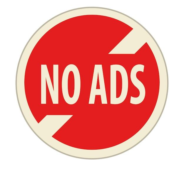 Aucune icône de signe de publicité pour l'application multimédia