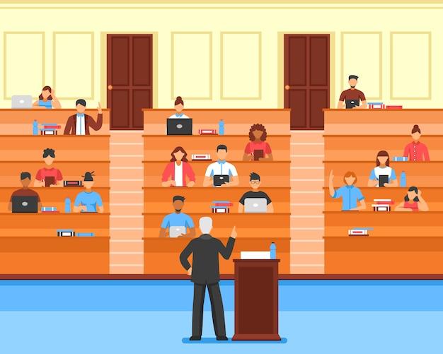 Audience composition de la salle de conférence