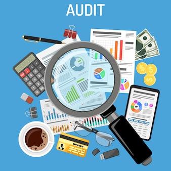 Audit, processus fiscal, comptabilité