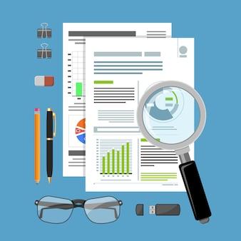 Audit, processus fiscal, concept comptable