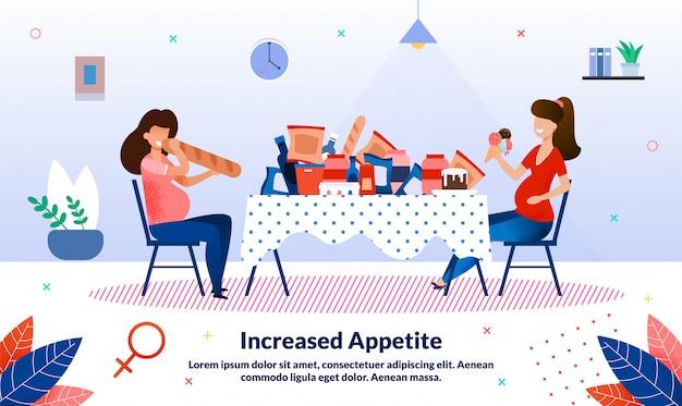 Augmentation de l'appétit pendant la grossesse