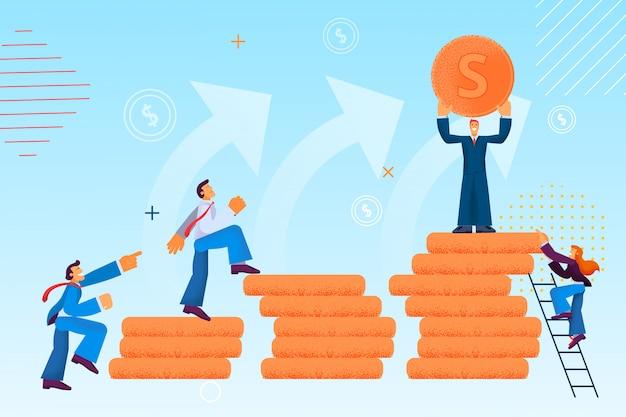 Augmentation de salaire et vecteur d'avancement de carrière.