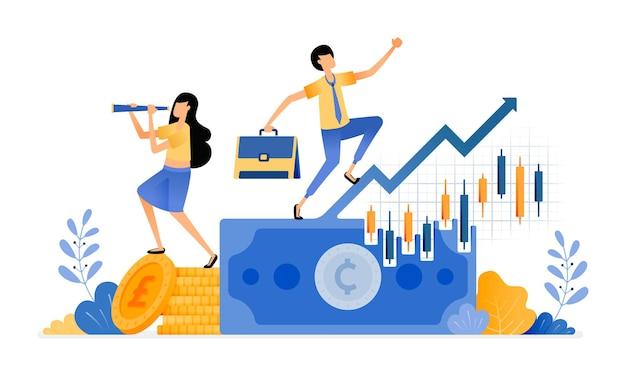 Augmenter les investissements des chandeliers dans le secteur financier