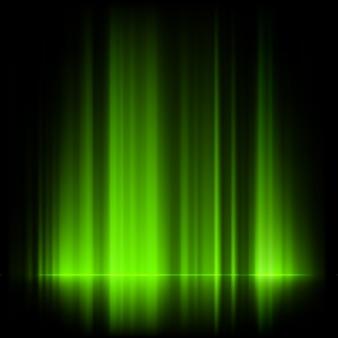 Aurores boréales vertes, aurores boréales.