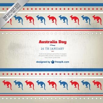 Australia day fond avec les kangourous