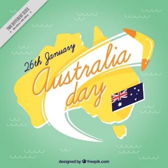 Australie day background avec boomerang