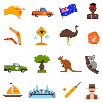 Australie icons set