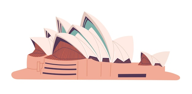 Australie sydney opera house isolé illustration vectorielle.