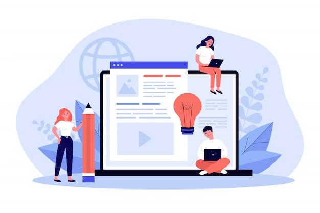 Auteurs de blog écrivant des articles