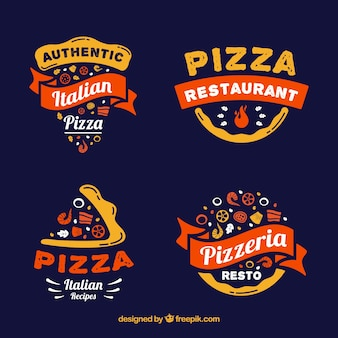 Authentic italian restaurant logo collectio