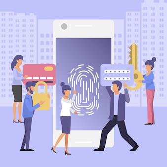 Authentification des doigts, système de sécurité de dépistage des empreintes digitales, détection de fraude, contrôle d'accès biométrique