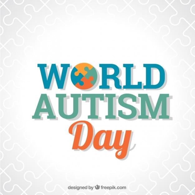 Autisme journée mondiale de fond avec des détails de puzzle