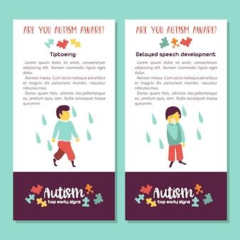 Autisme signes précoces du syndrome de l'autisme chez les enfants trouble du spectre de l'autisme chez les enfants icône tsa