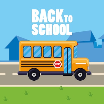 Autobus scolaire dans la rue