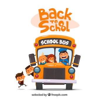 Autobus scolaire illustration