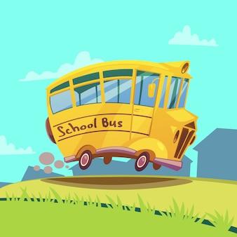 Autobus scolaire rétro