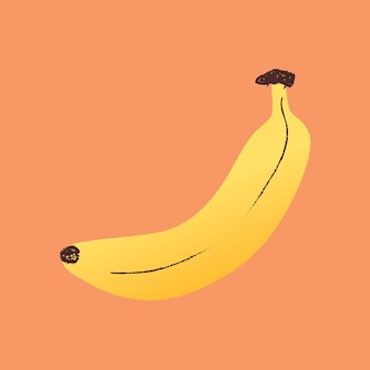 Autocollant banane mignon, clipart de fruits imprimable / vecteur