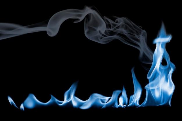 Autocollant de bordure de flamme brûlante, vecteur d'image de feu réaliste