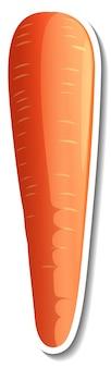 Un autocollant de carotte sur fond blanc