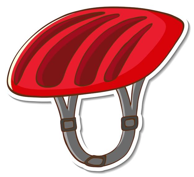 Autocollant de casque de vélo sur fond blanc