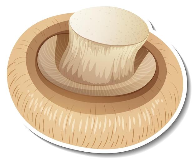 Autocollant champignon champignon sur fond blanc