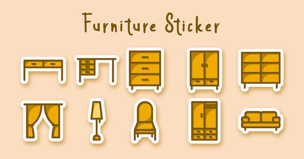 Autocollant coloré de ligne de meubles