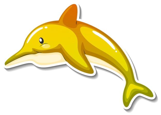 Autocollant de dessin animé d'animal marin de dauphin