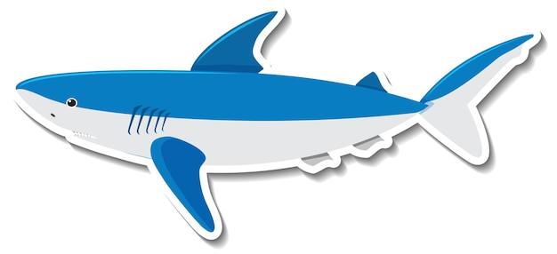 Un autocollant de dessin animé d'animal marin de requin