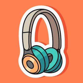 Autocollant de dessin animé d'écouteur