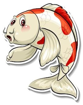 Autocollant de dessin animé de poisson carpe koi