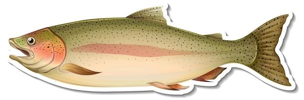 Autocollant de dessin animé de poisson saumon