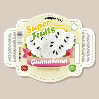 Autocollant d'étiquette de guanabana