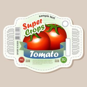 Autocollant d'étiquette de tomate