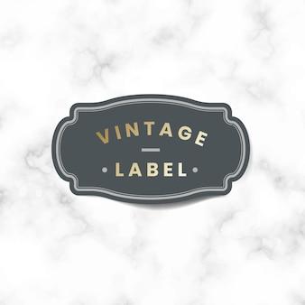 Autocollant d'étiquette vintage orné de roses