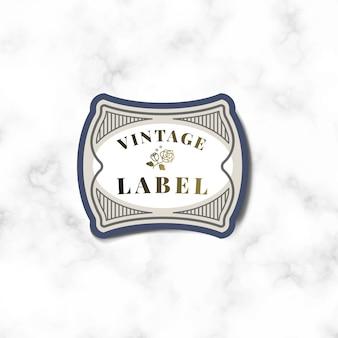 Autocollant étiquette vintage orné de vecteur de roses