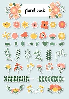 Autocollant floral pack