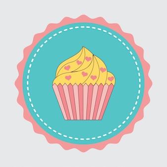 Autocollant de gâteau