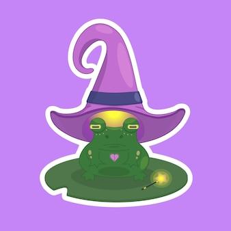 Autocollant grenouille magique