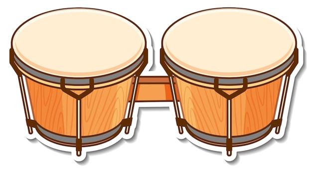 Autocollant instrument de musique tambour bongos