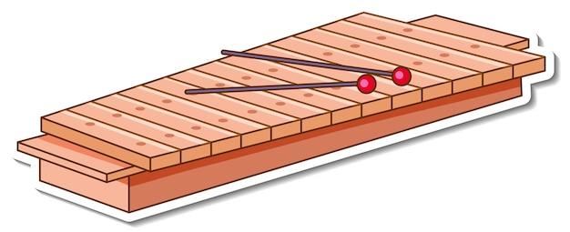 Autocollant instrument de musique xylophone