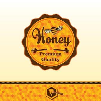 Autocollant de miel.