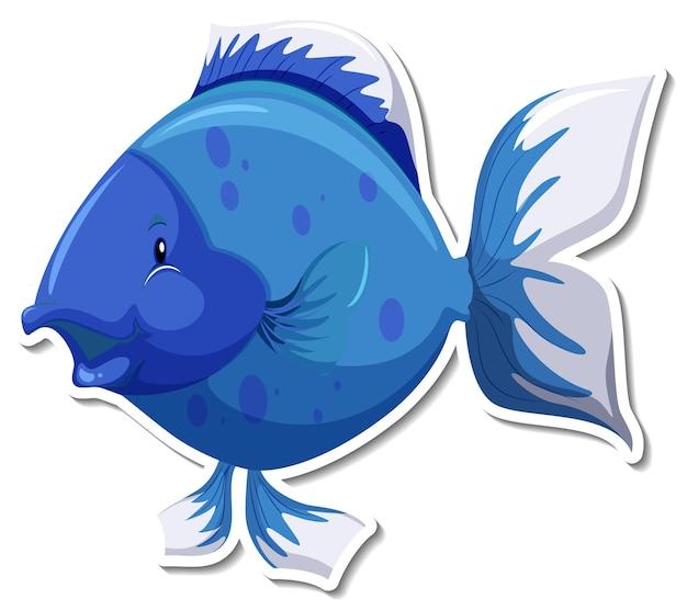 Autocollant mignon de bande dessinée d'animal de mer de poisson