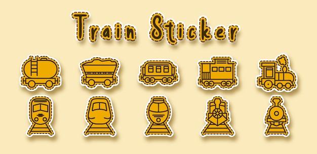 Autocollant de mine de transport ferroviaire de train