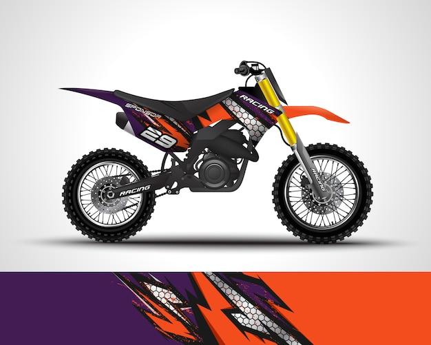 Autocollant de motocross et illustration d'autocollant en vinyle.