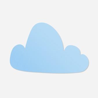 Autocollant de nuage mignon, vecteur de clipart météo imprimable